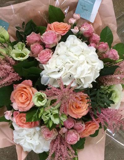 Bouquet bohème pastel