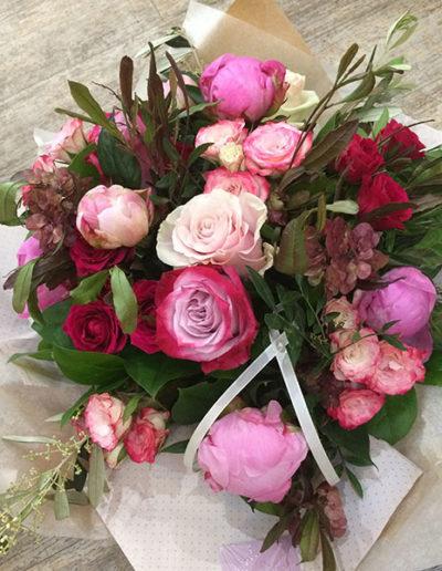 Bouquet rond ton de rose